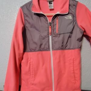 Hot pink North Face light sweater